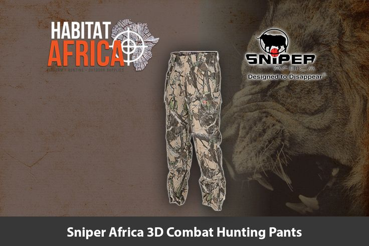The Sniper Africa 3D combat hunting pants are specifically designed to offer the…