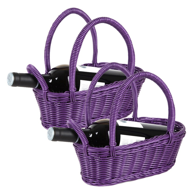 (2) Fab.com | Wine Basket Purple Pair
