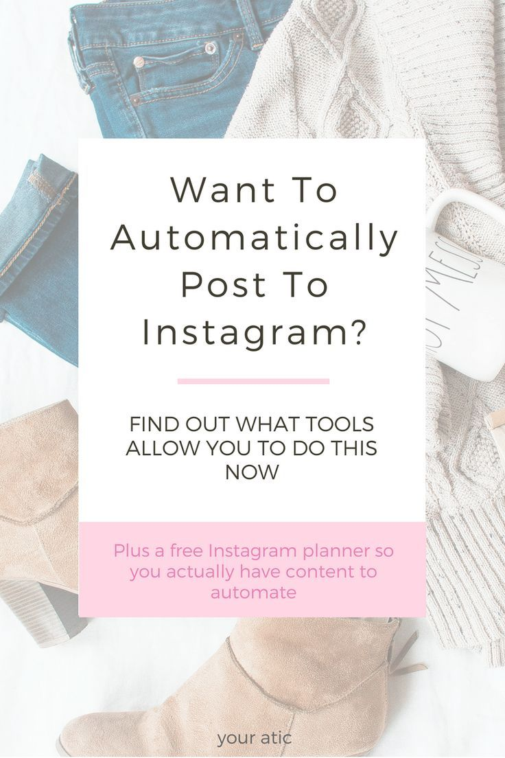 Everything you need to know to automatically post to Instagram without the constant notifications popping up on your phone. I walk you through which apps offer this functionality now with a review of Tailwind, Iconosquare, Buffer, Hootsuite, Later and Plann. Plus I've included a FREE Instagram Planner and workbook with prompts to help you generate a month worth of content. #instagramplanner #instagram #socialmediamanagement #independentdesigner #smallbusiness #socialmediamarketing
