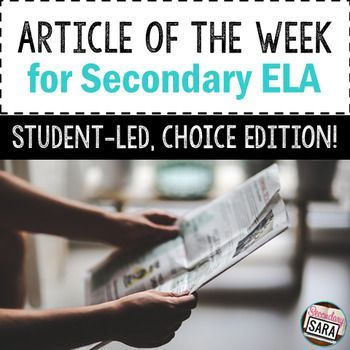 NO PREP version of an Article of the Week program! Let students choose and present their articles to the class; incorporate choice and ownership of non-fiction!