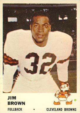 jim brown football cards | 1961 Fleer Jim Brown #11 Football Card