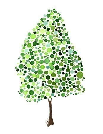 Tree watercolor print (have)