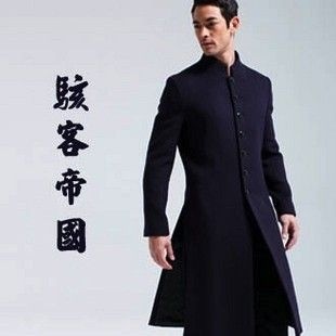 Hacker empire. Chinese style cashmere male stand-up collar coat