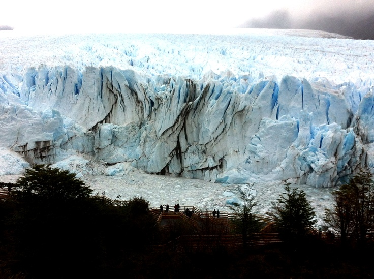Look at the size of the visitors relative to the glacier.