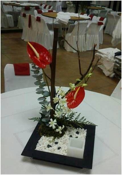 Arreglo Estilo Ikebana Dise 241 Ado Para Un Evento En La