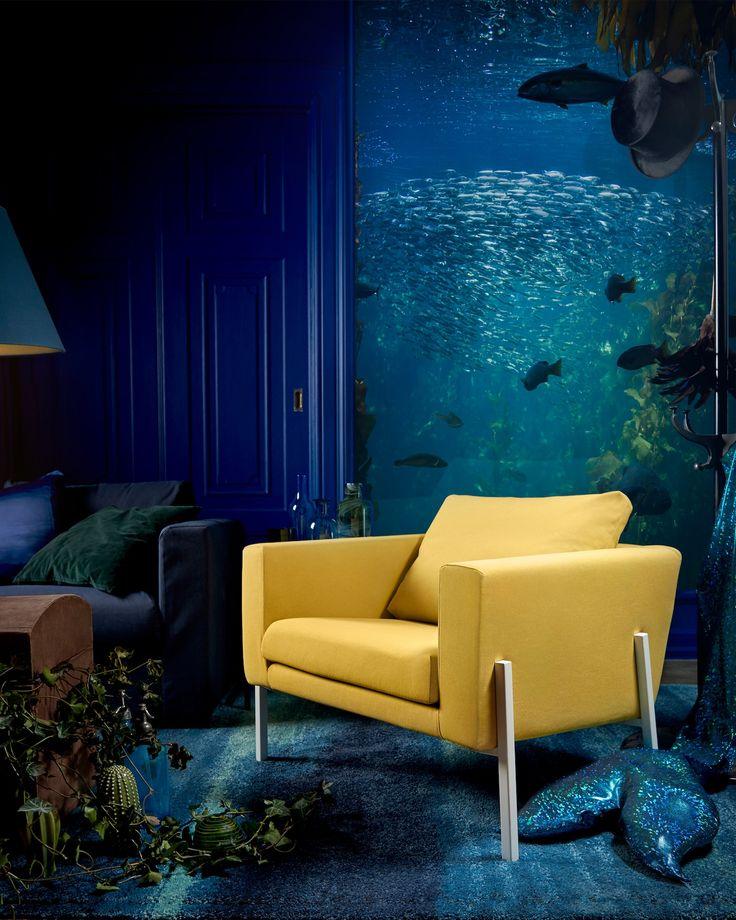 Marvelous IKEA KOARP Sessel goldgelb wei