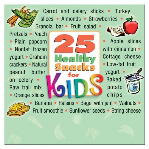 25 Healthy Snacks For Kids Magnet - Personalization Available