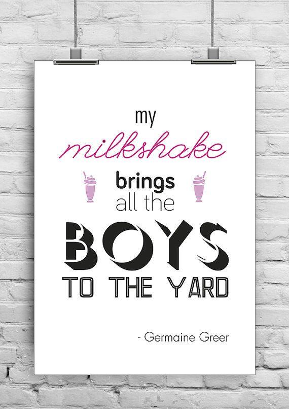 Misquotes  Feminist Writers Print  Germaine Greer by FenlandMedia, £6.99
