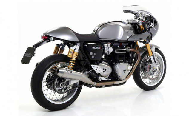 #birmingham Arrow Exhaust For 2016 Triumph Thruxton 1200/1200R  SpeedMob, Arrow Exhausts' exclusive US distributor, announces a brand new slip-on exhaust for the 2016 Triumph Thruxton 1200 and 1200 R. These Stainless Steel slip-on silencers fit the look and the lines of the Triumph Thruxton perfectly, making a ... http://blog.motorcycle.com/2016/10/03/motorcycle-news/arrow-exhaust-2016-triumph-thruxton-12001200r/