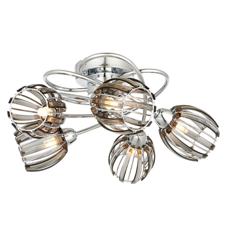 React Smoked Acrylic Chrome Effect 5 L& Ceiling Light - Bu0026Q for all your home and garden supplies and advice on all the latest DIY trends  sc 1 st  Pinterest : lighting at bq - azcodes.com