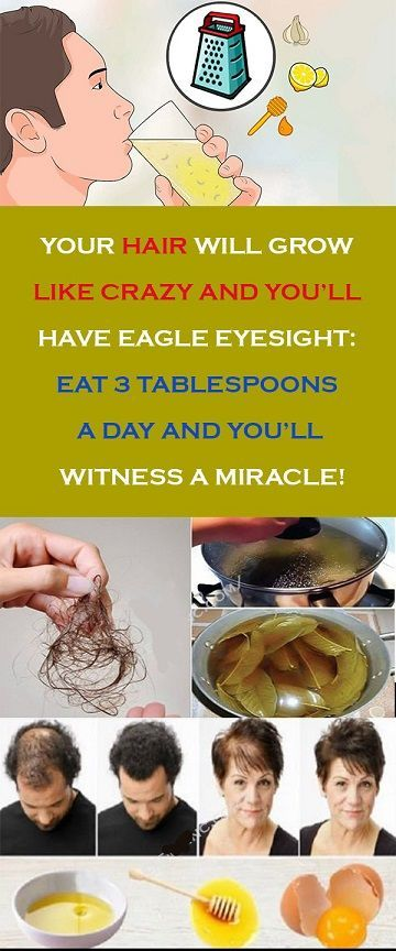 YOUR HAIR WILL GROW LIKE CRAZY AND YOU'LL HAVE EAGLE EYESIGHT, EAT 3 TABLESPOONS A DAY AND YOU'LL WITNESS A MIRACLE!