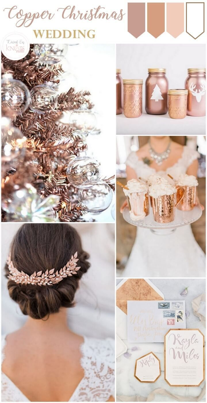 Beautiful copper christmas wedding inspiration