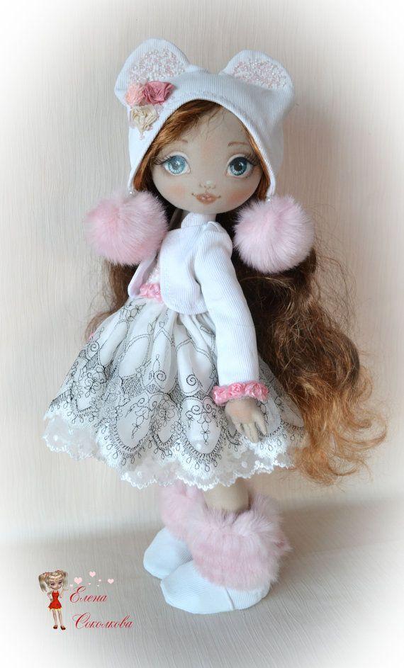 Emilia. 20-inch cloth doll. one of a kind doll. от ElenaDolls