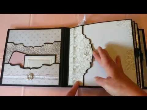 Wedding mini album - YouTube Cool pocket ideas to increase usable page space