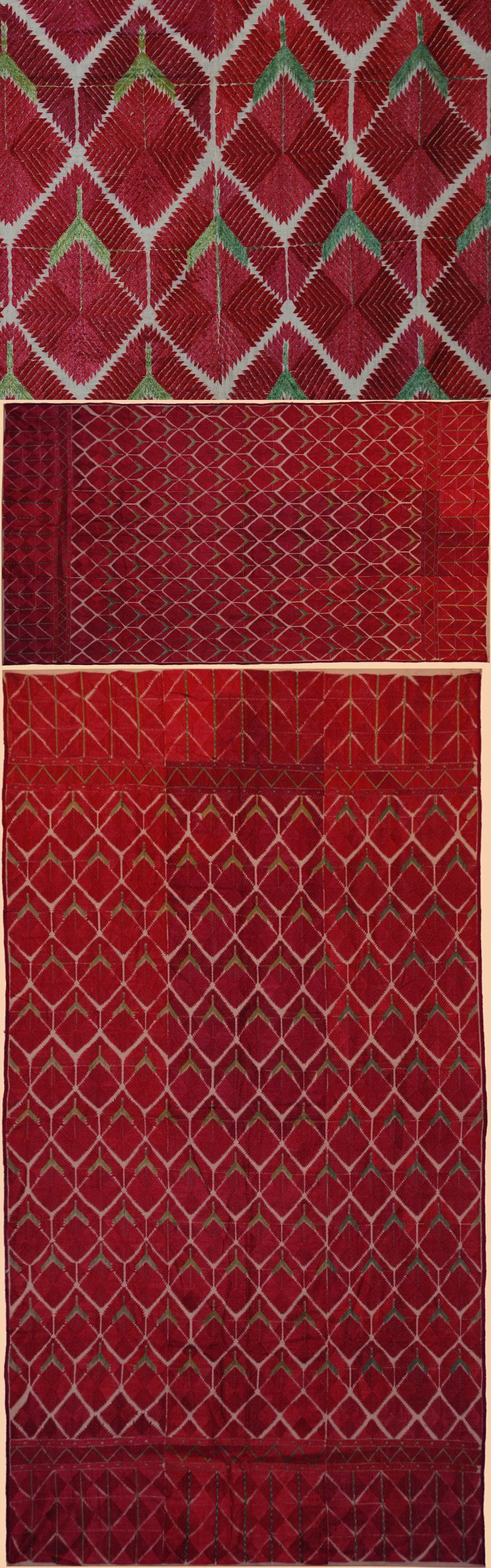 Eastern Punjabi four panel shawl, ca. 1800-1900