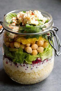 Marokkanischer Salat im Glas (Lunch Recipes Low Carb)