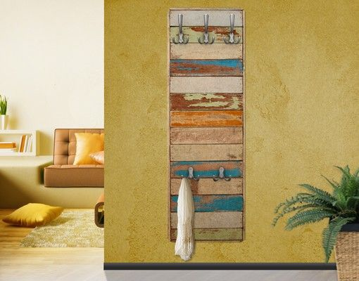 Wandgarderobe - Shelves of the Sea - natura 139x46x2cm #Garderobe #Wandgarderobe mit #Bild #Haken #Flur #Dekoidee #vintage