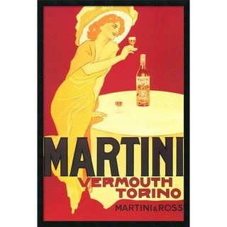 Martini - Vermouth Torino' Framed Art Print with Gel Coated Finish | Overstock.com Shopping - The Best Deals on Framed Prints
