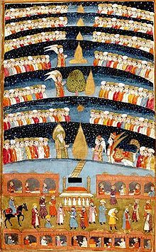 """""""Muhammed's Paradise"""". A Persian miniature from The History of Mohammed, Bibliothèque nationale de France, Paris.Jannah , an eternal place for Muslims, is the Islamic conception of paradise."""