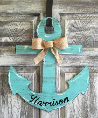 Another great find on #zulily! Aqua Anchor Personalized Door Hanger #zulilyfinds