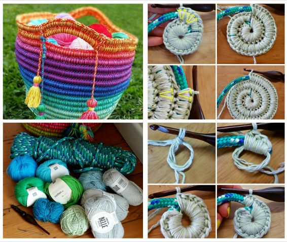 Ropey Rainbows Basket