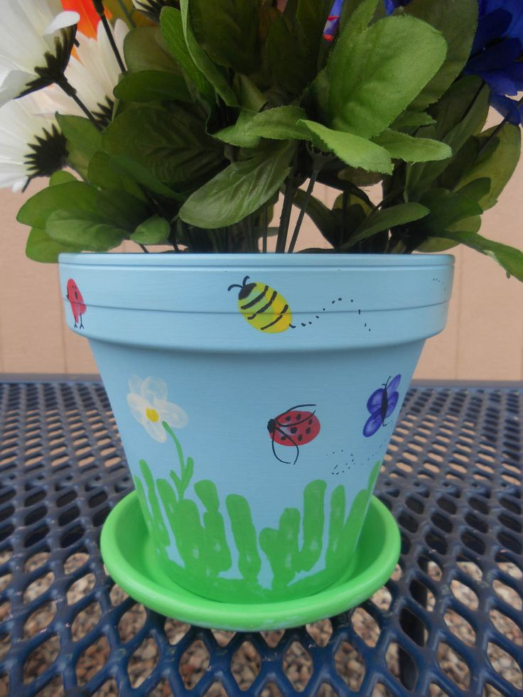 First Class Teacher: DIY Teacher Appreciation Thumbprint Flower Pot