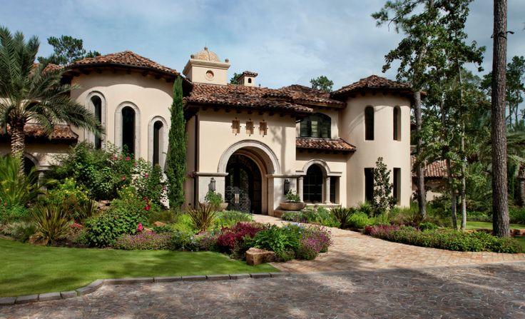 Mediterranean Tuscan Style Home House Mediterranean