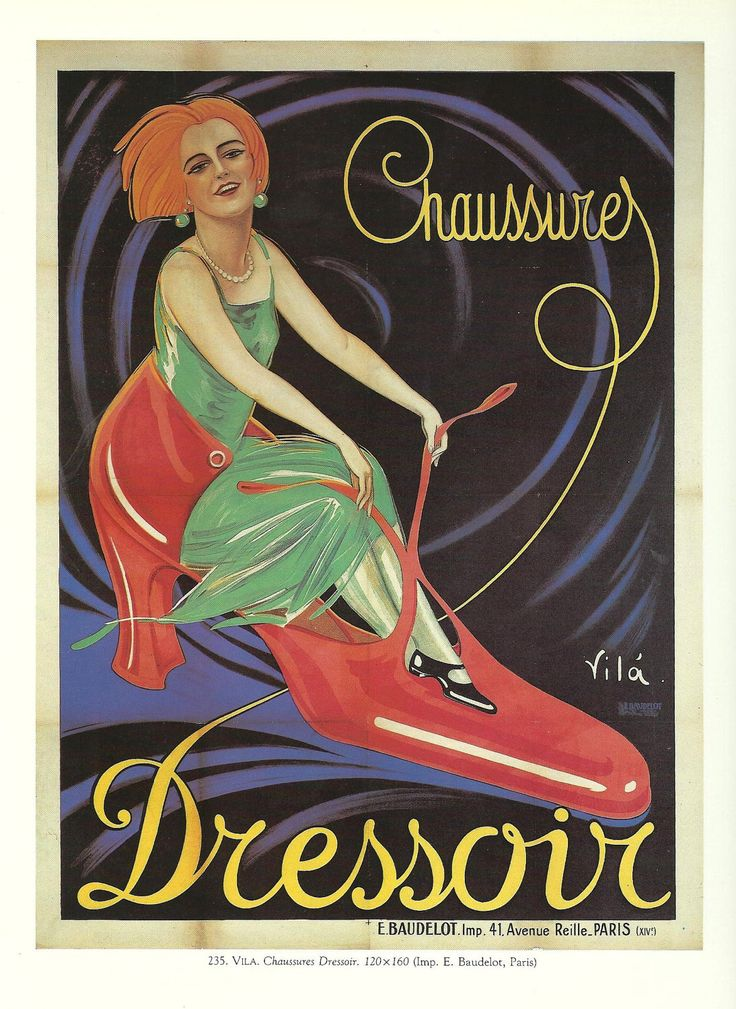 Vintage French SHOES, CLOTHES Advertisement advertising ...