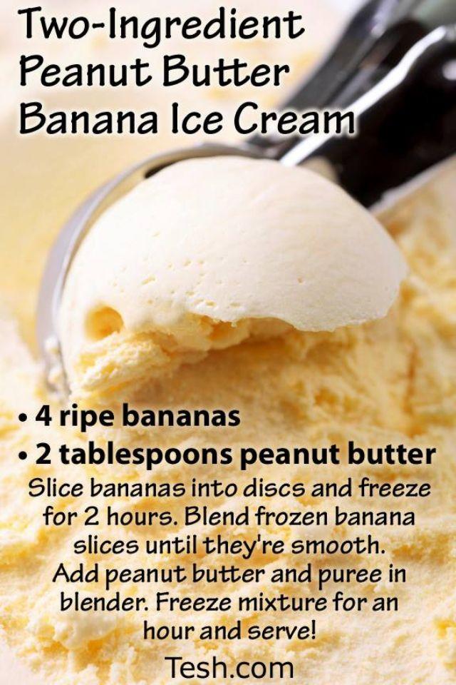 Peanut Butter Banana ice cream courtesy of John Tesh