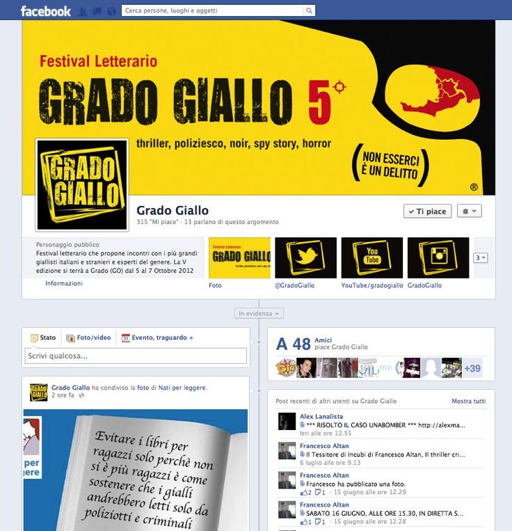#Facebook #Timeline di @Grado Giallo , #Festival letterario organizzato dal comune di #Grado  #libri #book