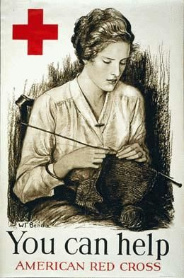 HistoryLink.org- the Free Online Encyclopedia of Washington State History.  WWI Red Cross poster encouraging knitting, ca. 1917