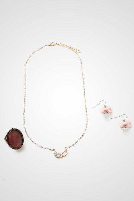 sweet pink triple set#dazzle by qmomo idr 110