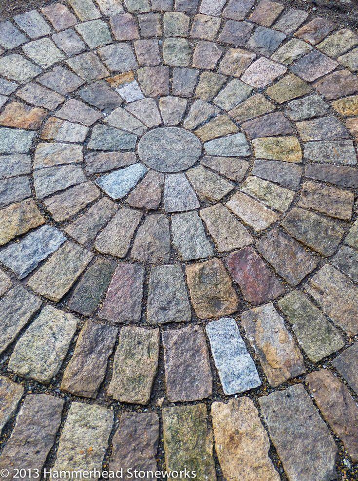 Granite Cobbles Create A Circular Patio. Hammerhead Stoneworks