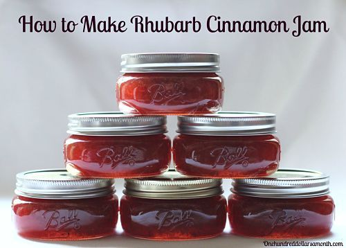 I owe Krista a big THANK YOU for sending me this wonderful recipe for Rhubarb Cinnamon Jam.  I whipped up a batch this morning and it turned out delicious.  I love it so much, I plan on making a few more batches of this rhubarb cinnamon jam this...