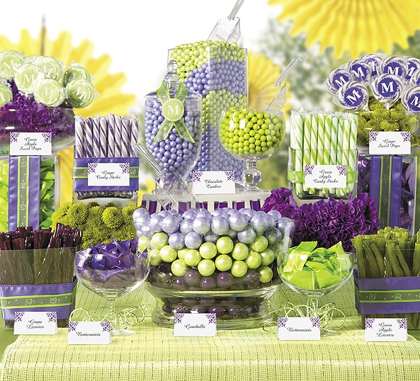 Create a candy buffet in your favorite colors.