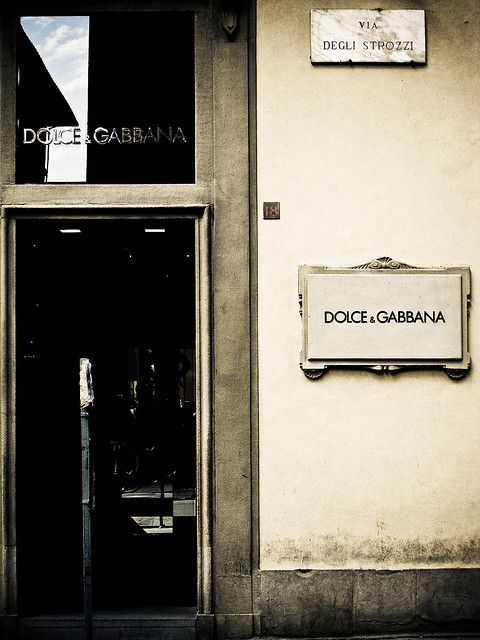 Dolce & Gabbana: Downtown Florence ....all you men, go shop here. now.