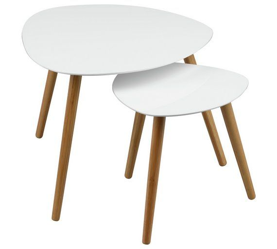 Buy Premier Housewares Nostra Nest of 2 Tables - Gloss White at Argos.co.uk, visit Argos.co.uk to shop online for Coffee tables, side tables and nest of tables, Living room furniture, Home and garden