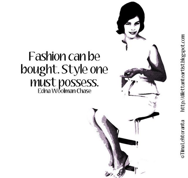 dilettante artist: Fashion Postcard