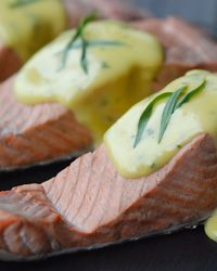 Poached Salmon with No-Fail HollandaiseHollandaise Sauce, Seafood Recipe, Poached Salmon, Hollandais Recipe, No Fail Hollandaise, Andrew Rooms, Salmon Recipe, Nofail Hollandais, Hollandaise Recipe