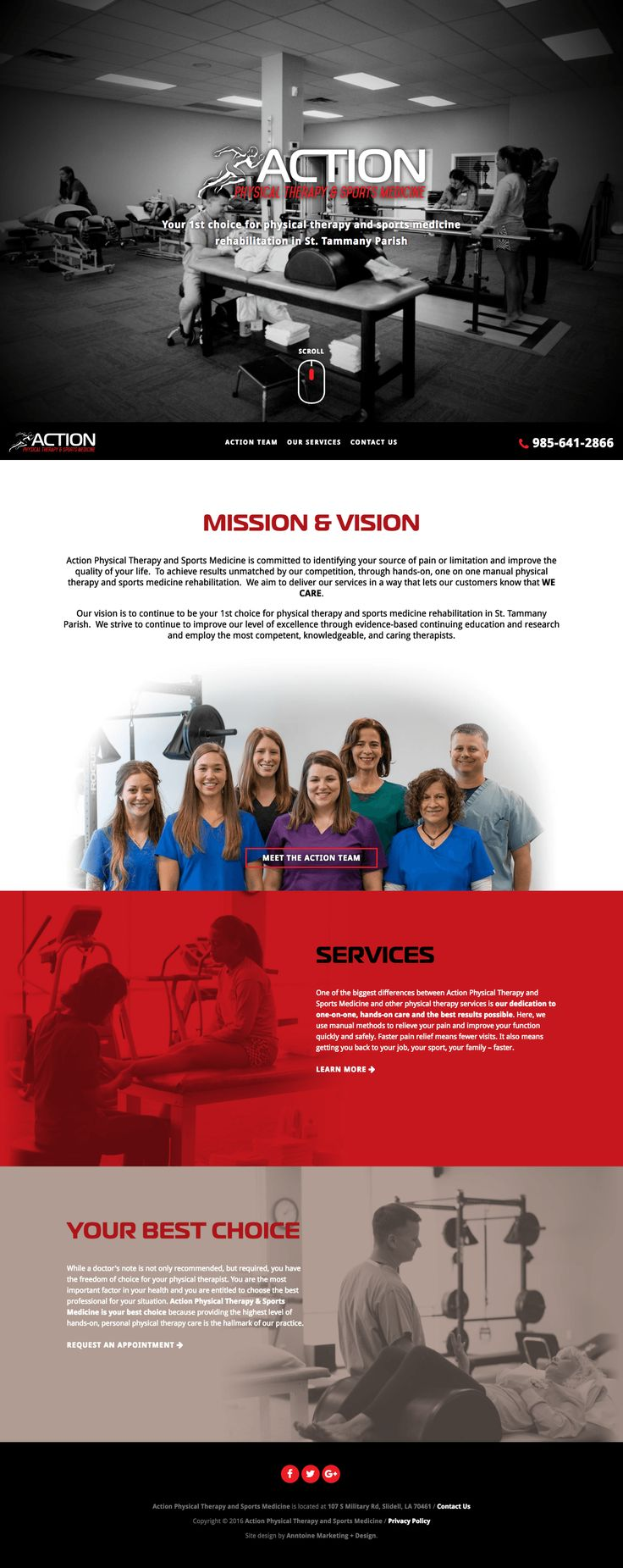 Web Design | Website Design | Responsive Website | Responsive Website Design | Fitness Website | Fitness Design | Custom Website Design | Custom Website | Healthy School Food Collaborative Website | Branded Website Design | Website Inspiration | Website Ideas | Web Design Ideas | Parallax Scrolling | Action Physical Therapy | Physical Therapy | Slidell, La | http://actionptslidell.com/