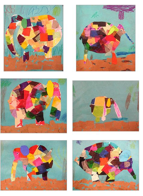 Elmer the Elephant! All so different! Experiments in Art Education: Kindergarten