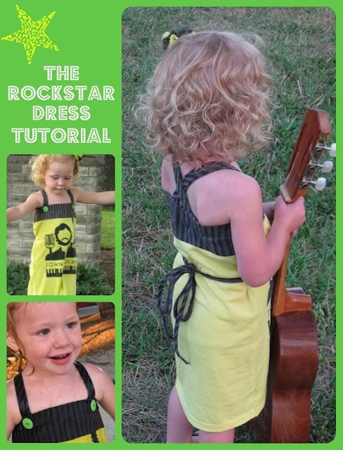 Rock star dressRockstar Dresses, Dresses Tutorials, Dress Tutorials, Upcycling Rockstar, Dresses Ideas, Rockstar Tshirt, Kids Clothing, Scouts Stitches, Diy Refashion