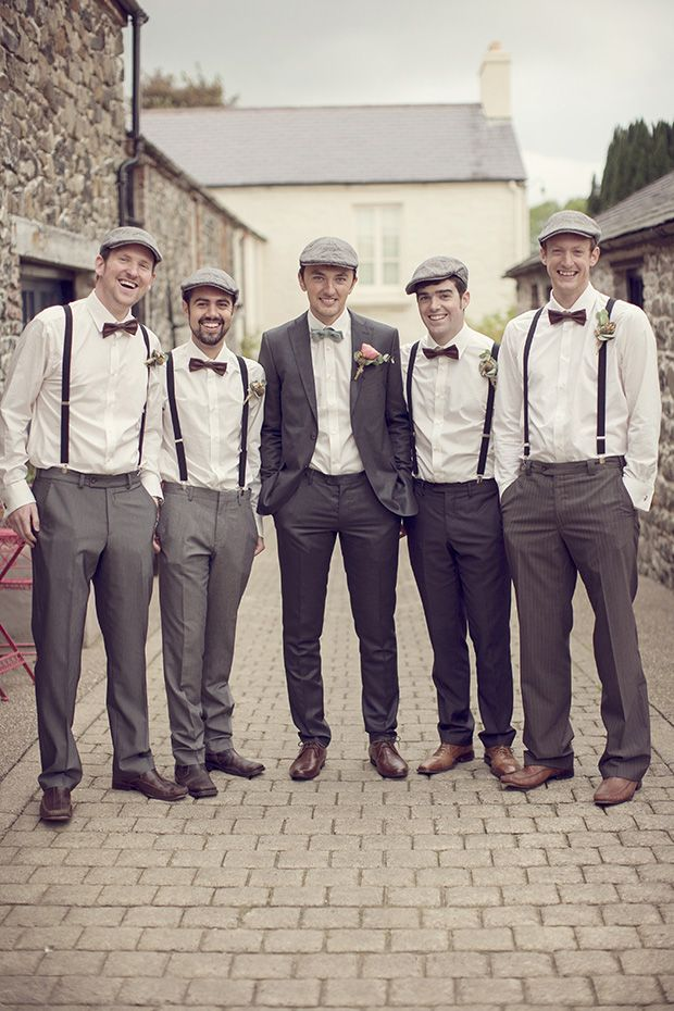 Casamento Vintage/Retrô com noivo e padrinhos vestidos à moda antiga!