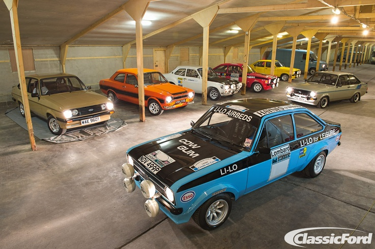 The Sherwood's dream garage, from the October 2012 issue of Classic Ford. Photo: Chris Wallbank
