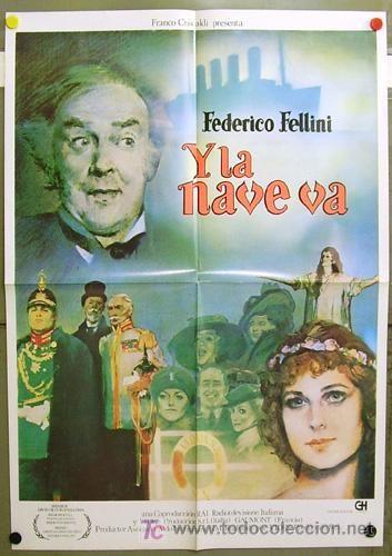 FA64 Y LA NAVE VA FEDERICO FELLINI POSTER ORIGINAL 70X100 ESTRENO