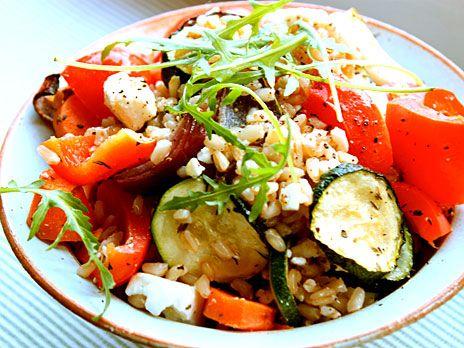 Matvetesallad med rostade grönsaker | Recept.nu