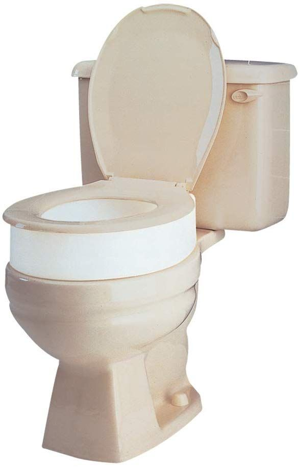Carex Toilet Seat Riser Elongated Raised Toilet Seat Adds 3 5 Inches To Toilet Height For Assi In 2020 Toilet Toilet Seat Elongated