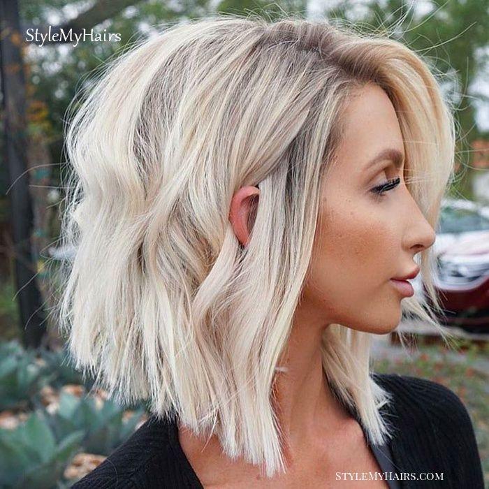 27 Incredible Lob Haircut Ideas For 2019 Lob Haircut Icy Blonde Hair Lob Hairstyle