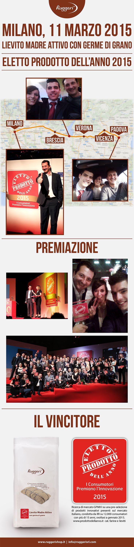 """Premiazione """"Eletto Prodotto dell'Anno"""", 11 marzo 2015, Milano. http://www.prodottodellanno.it http://www.ruggerishop.it/it/"""