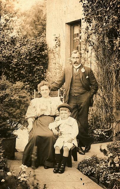 Edwardian family in the garden